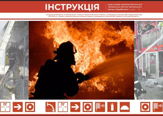 Інструкція щодо заходів пожежної безпеки для торгівельних об'єктів